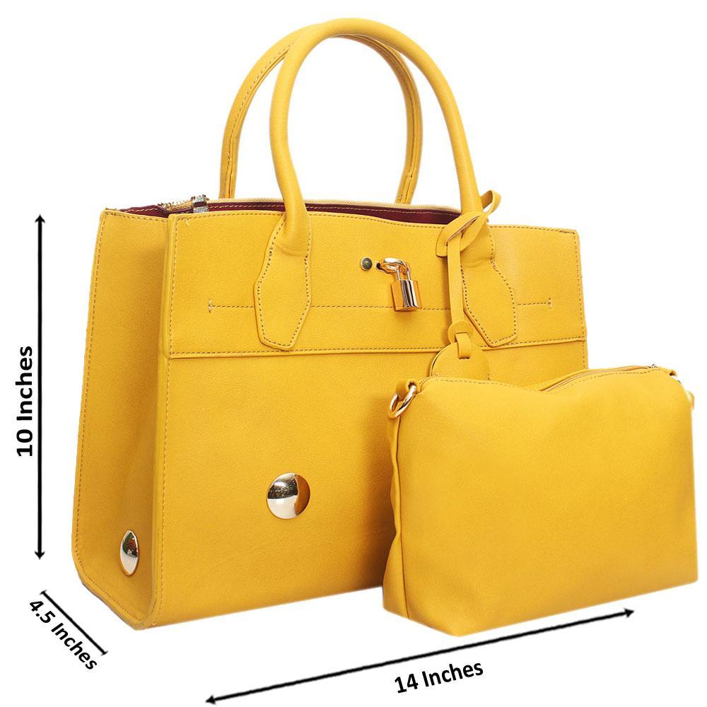 Yellow-Leather-Medium-Stunning-Handbag