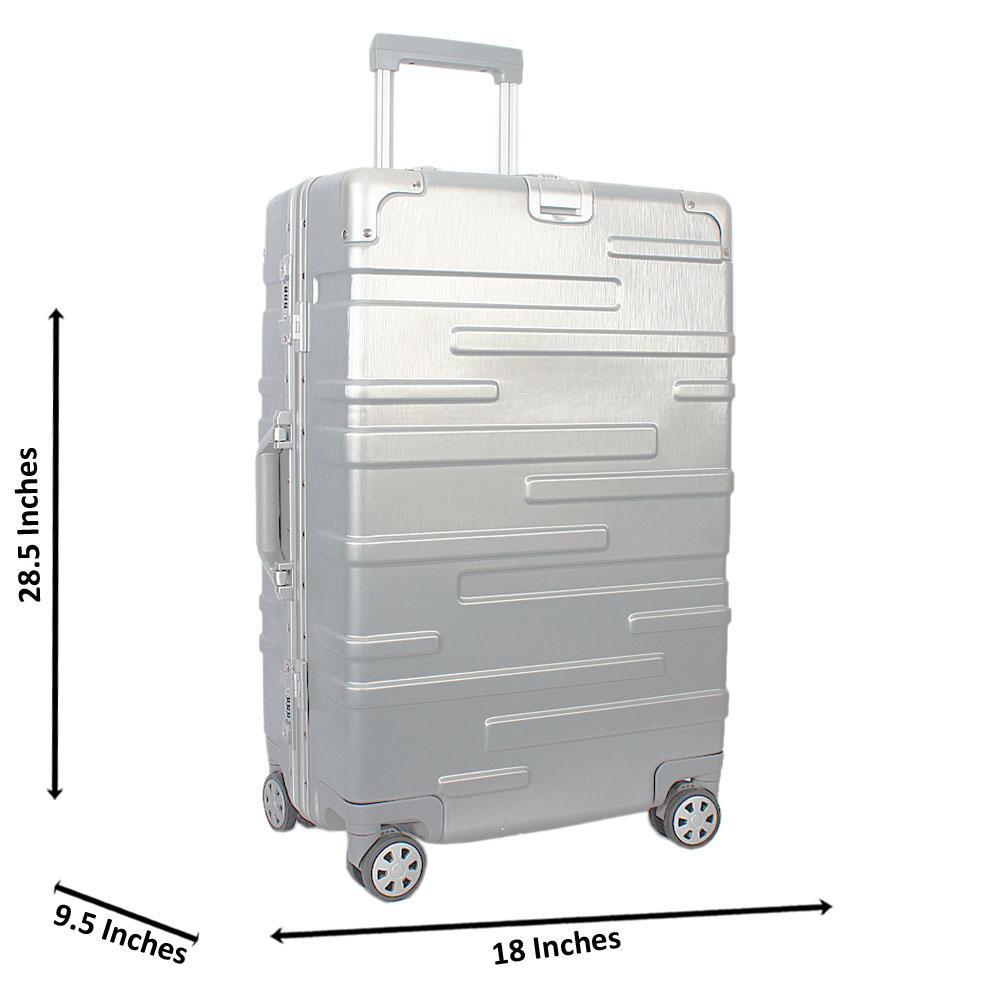 Silver 29 inch HardShell Luggage Wt TSA Lock