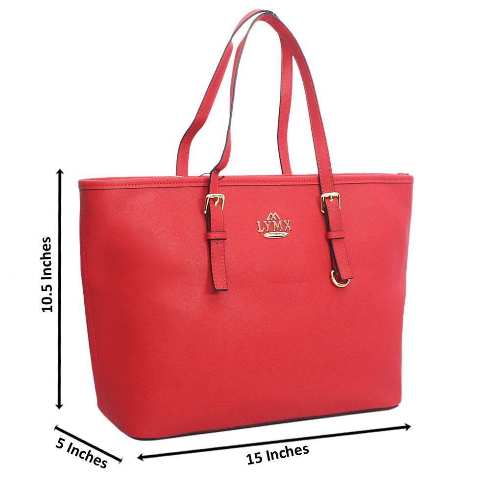 Red Median Jet Set Item Shoulder Handbag