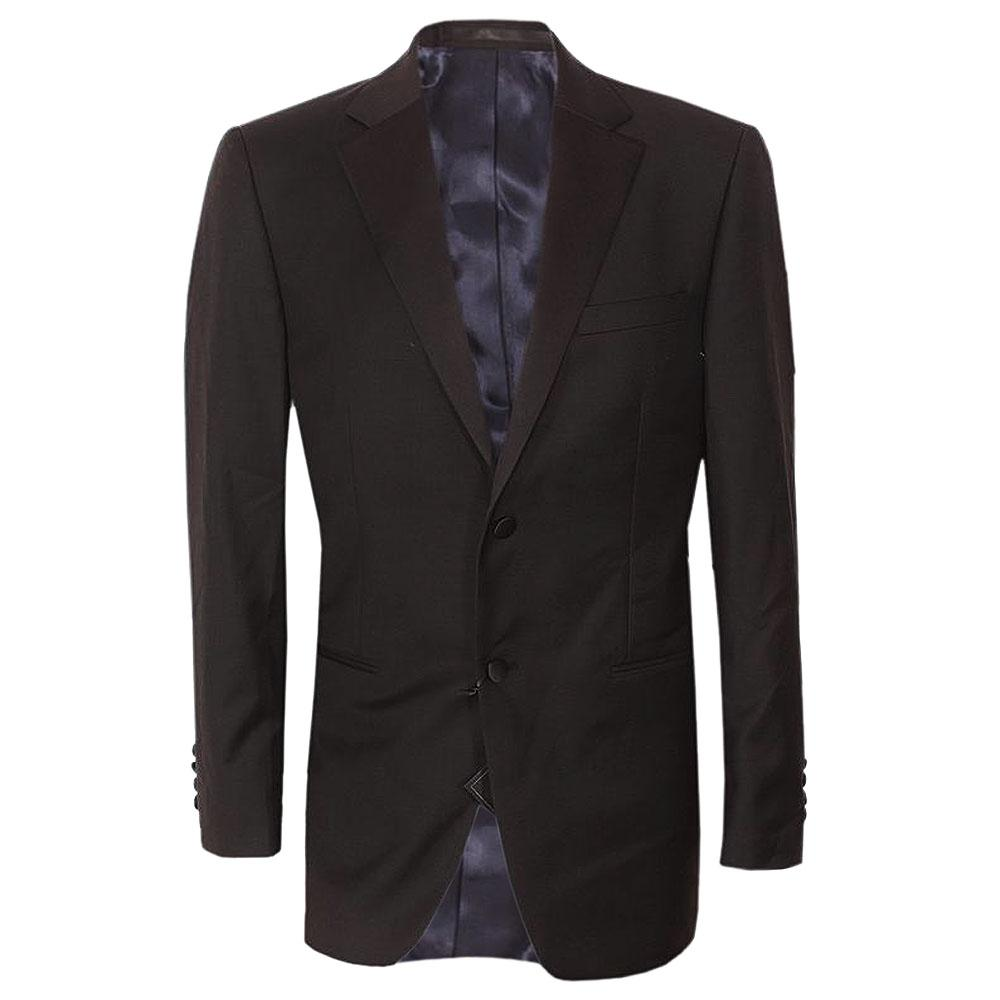 Marks & Spencer Black Taylored Fit Men Blazer