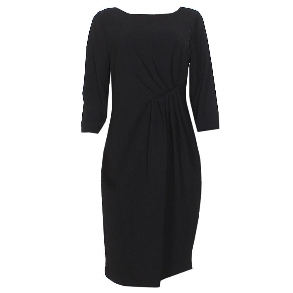 M & S Black L/Sleeve Cotton Dress