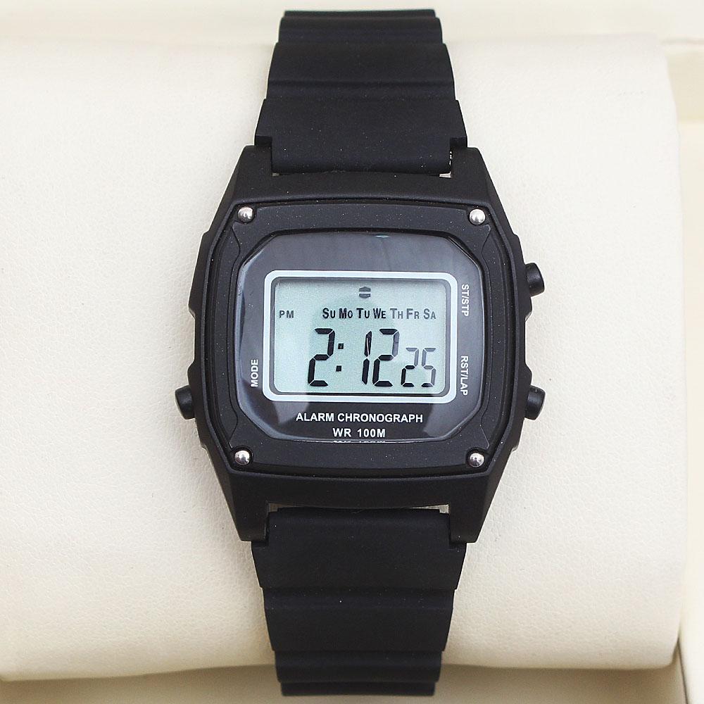 M & S Black Rubber Strap Men Digital Watch -comes in wholesale case
