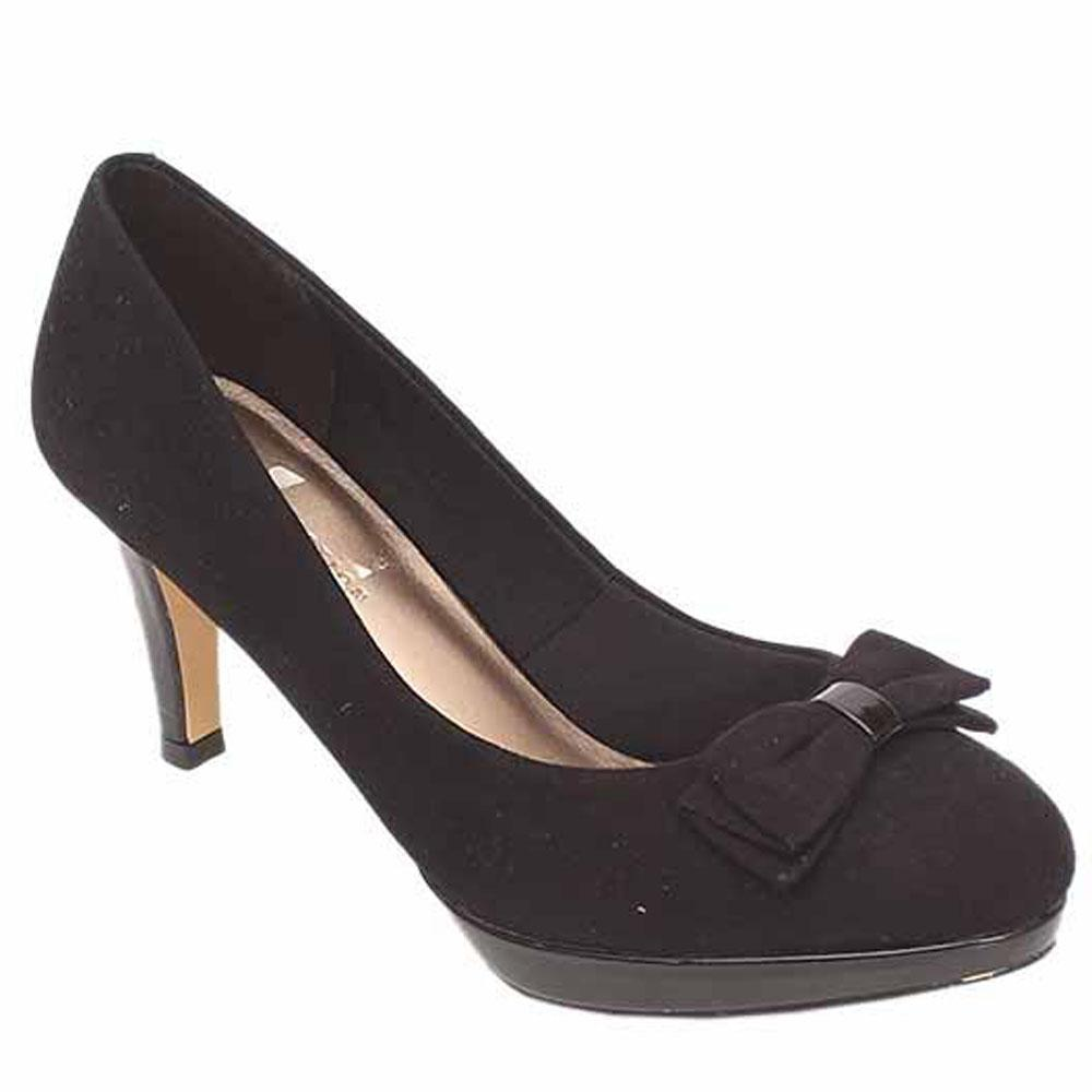 M&S Insolia Black Suede Ladies Heel Shoe