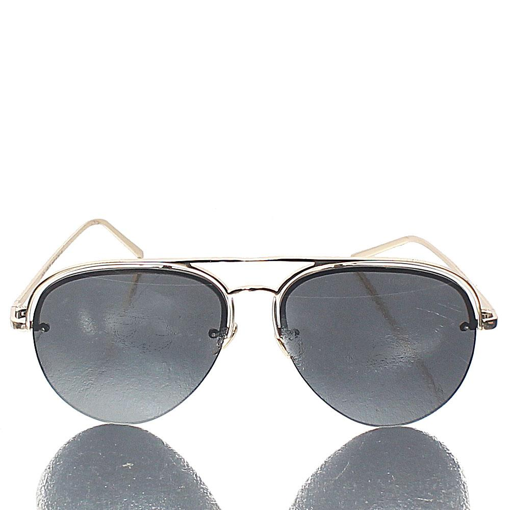 Gold Black Pilot Sunglasses