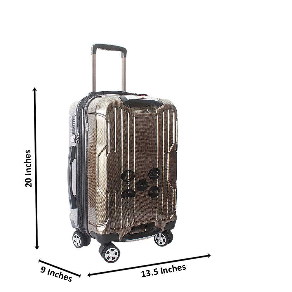 Saint Gold 20 inch  Hardshell Spinners Premium Carry On Luggage
