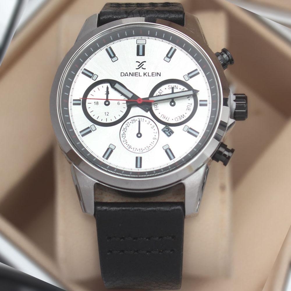 Daniel Klein Adventura Brown Leather Watch