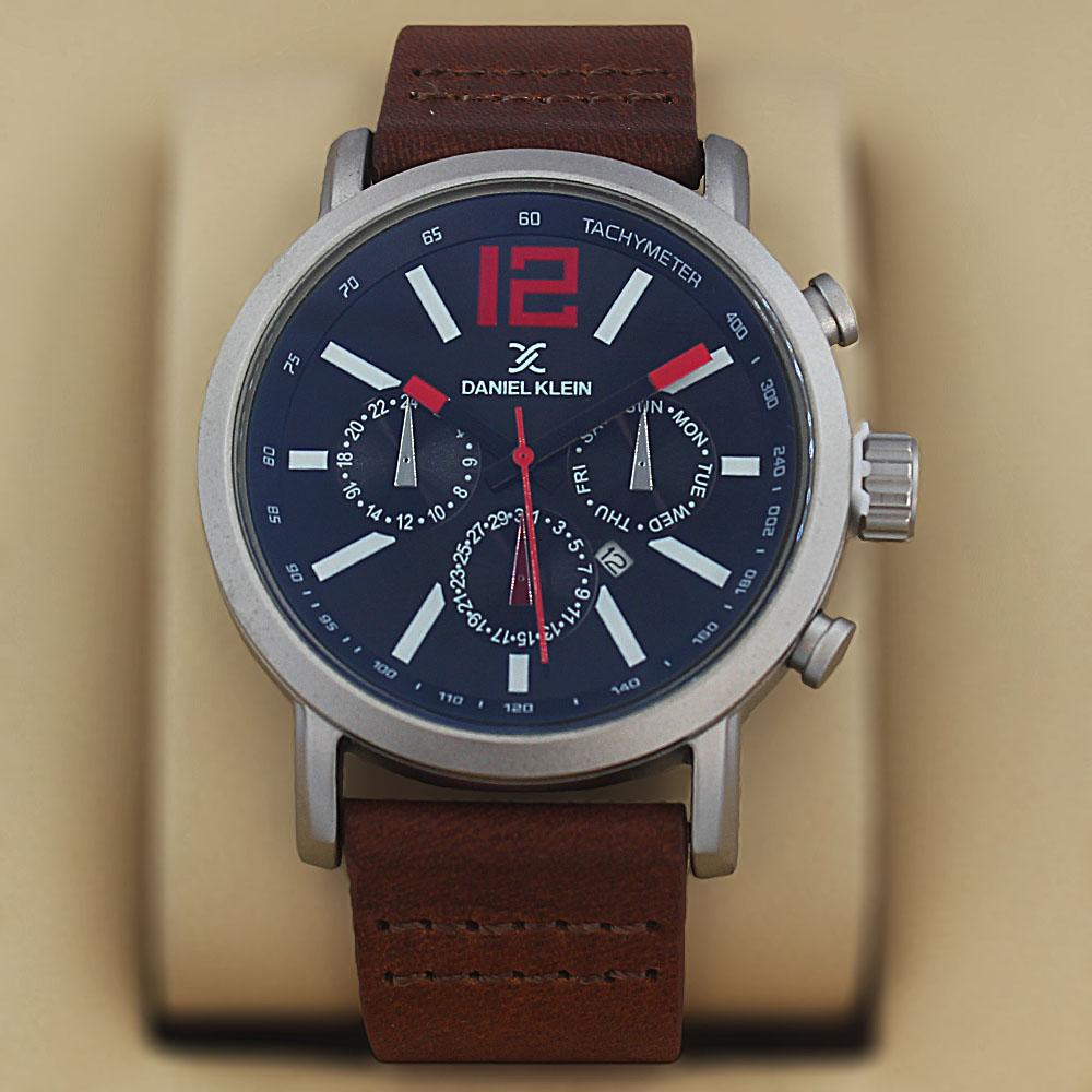 Daniel Klein Ricardo Brown Leather Fashion Series Watch