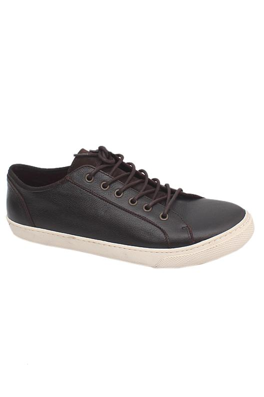 Clarks Brown White Lace Up Men Sneakers