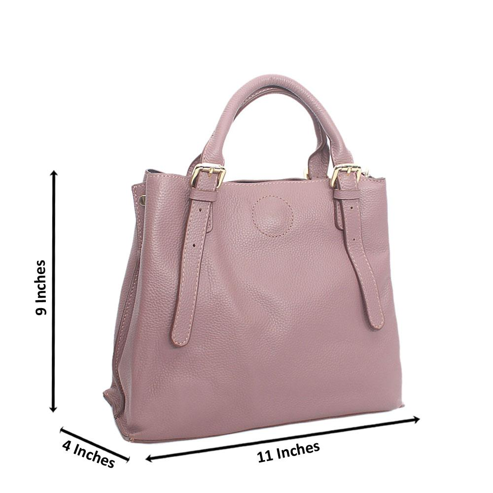 Lilac Small Guessland Aussie Leather Tote Handbag