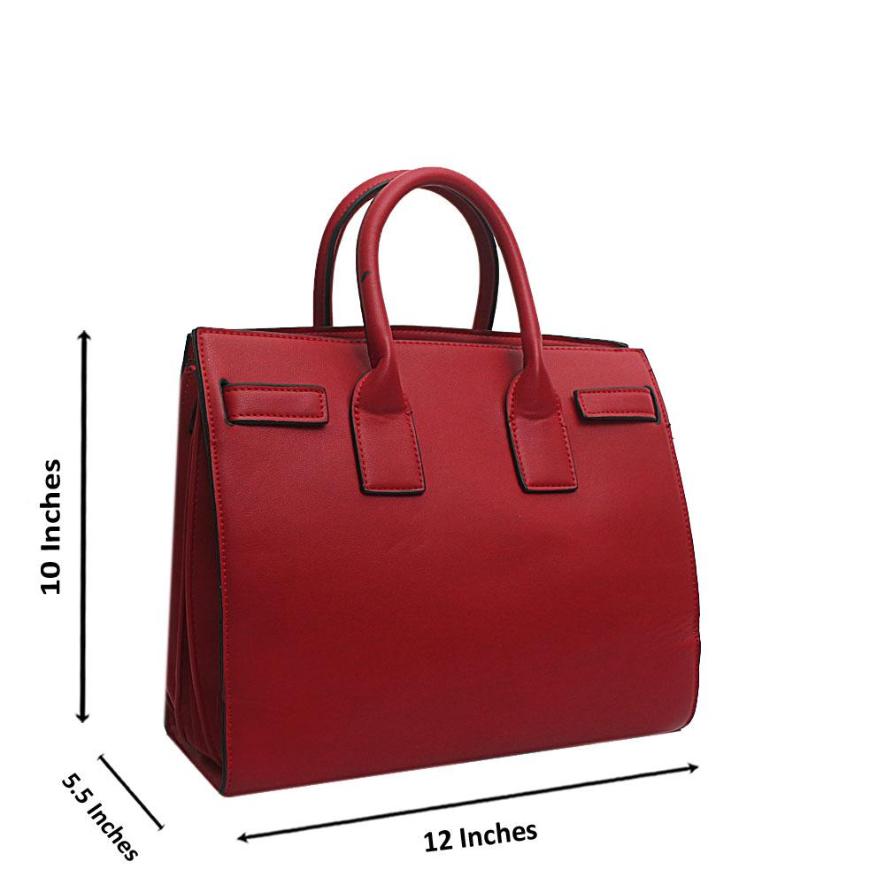 Saint Laurent Red Leather Tote Bag