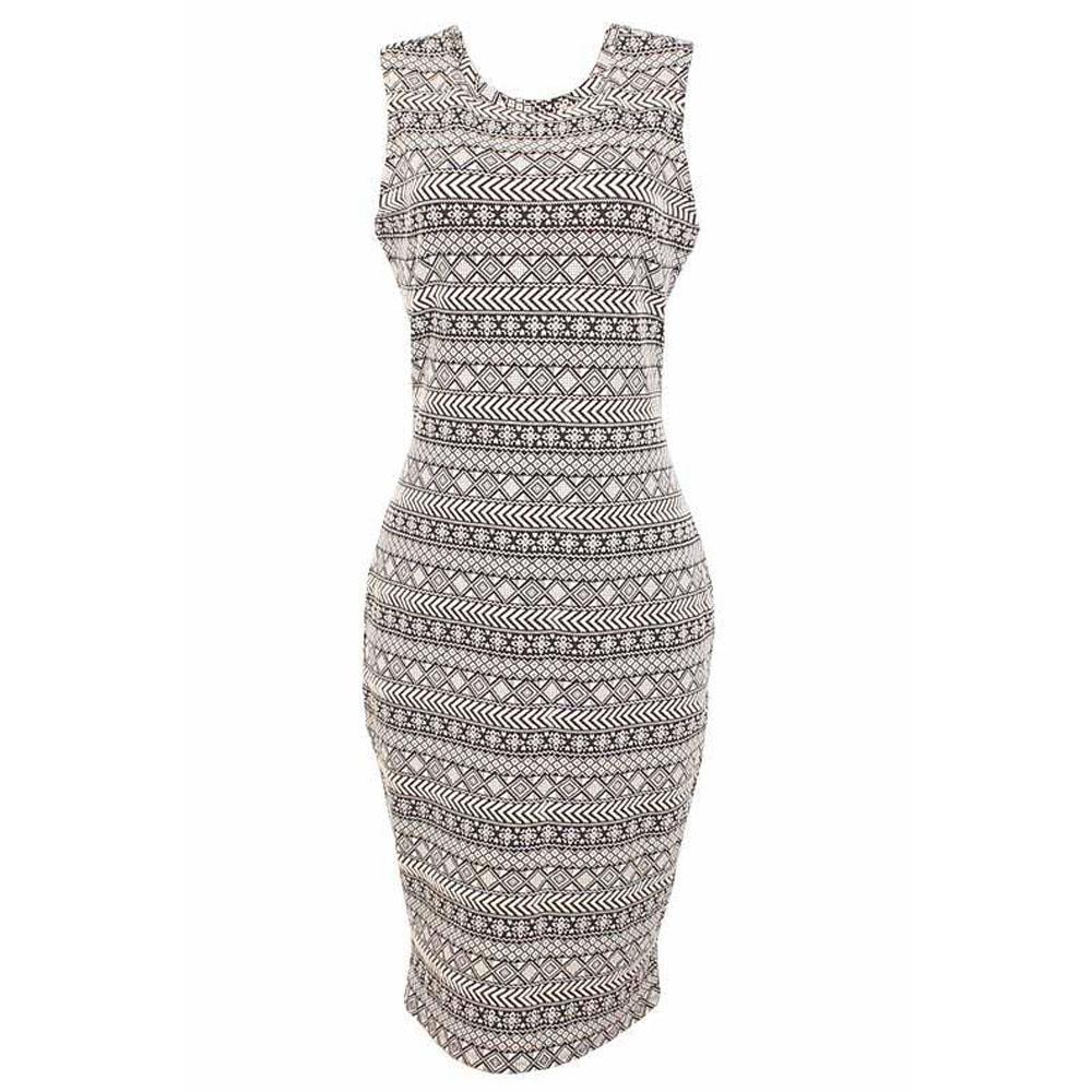 M&S Limited Monochrome Cotton Ladies Dress