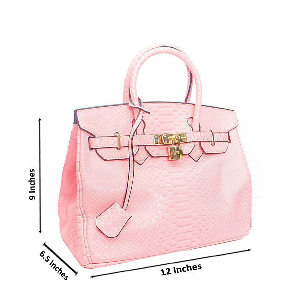 Baby Pink Miane Snake Tandy Leather Handbag