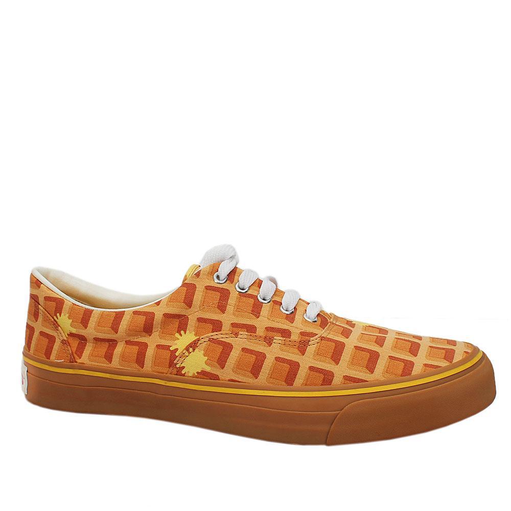 Ice Cream Orange Mix Fabric Men Sneakers