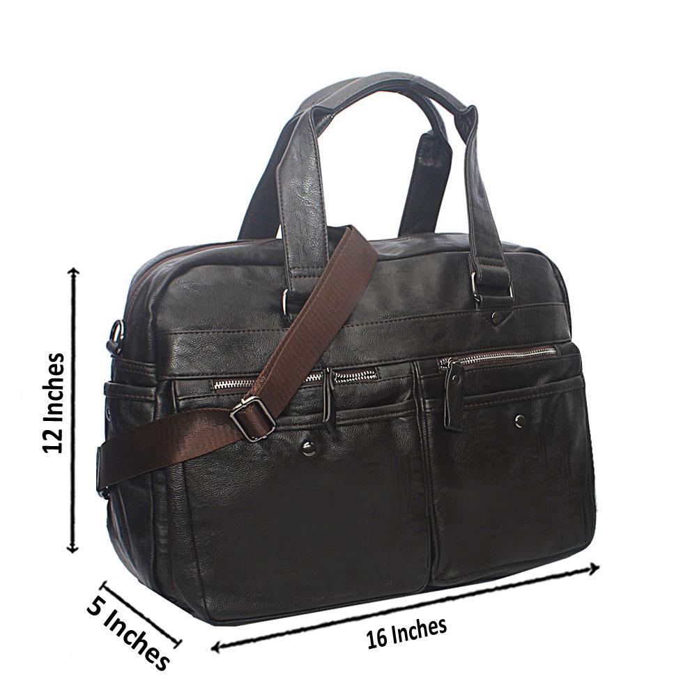 Casania Cofee Pocket Zipped Overnight Travel Bag