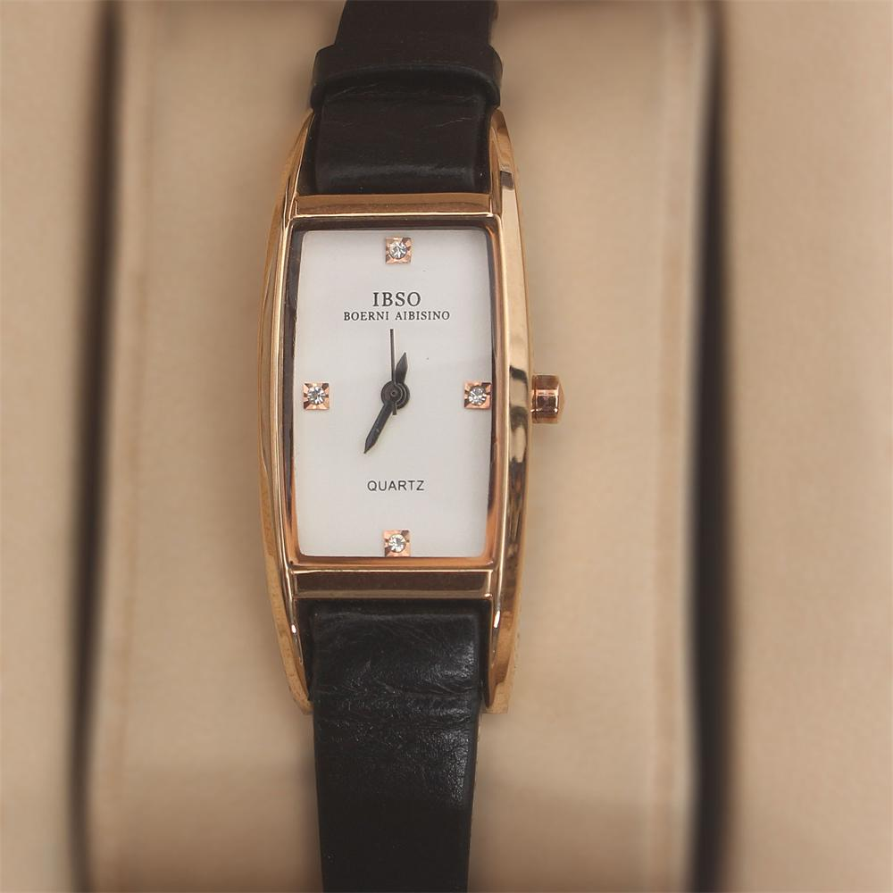 Prima Boerni Black Leather Slim Ladies Watch