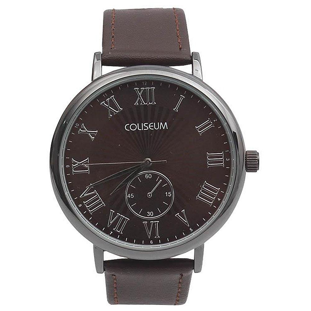 Coliseum Empire Brown Leather Mens Fashion Watch-