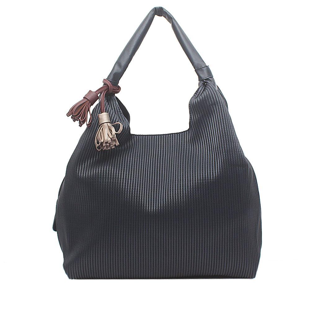 London  Style Navy Blue Leather Shoulder Bag