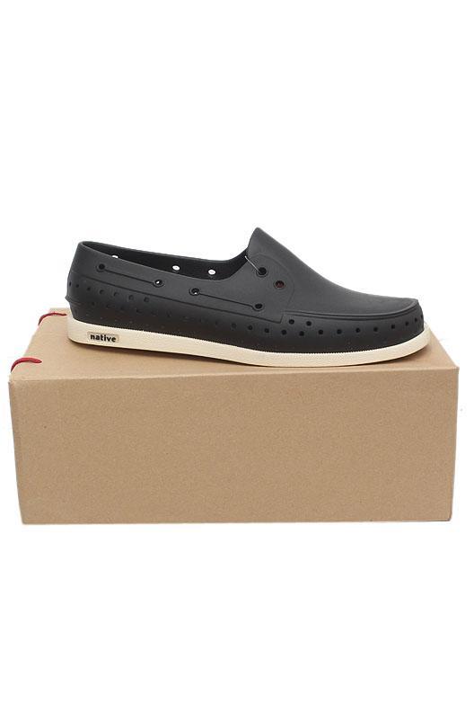 Native Black White Rubber Men Shoe