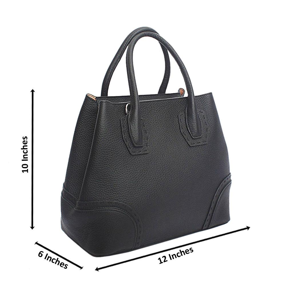 Forstmann Exclusive Black Cow-Leather Tote Handbag