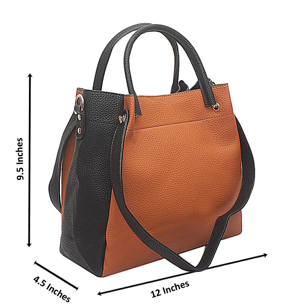 Brown-Black Kendo Medium Handbag