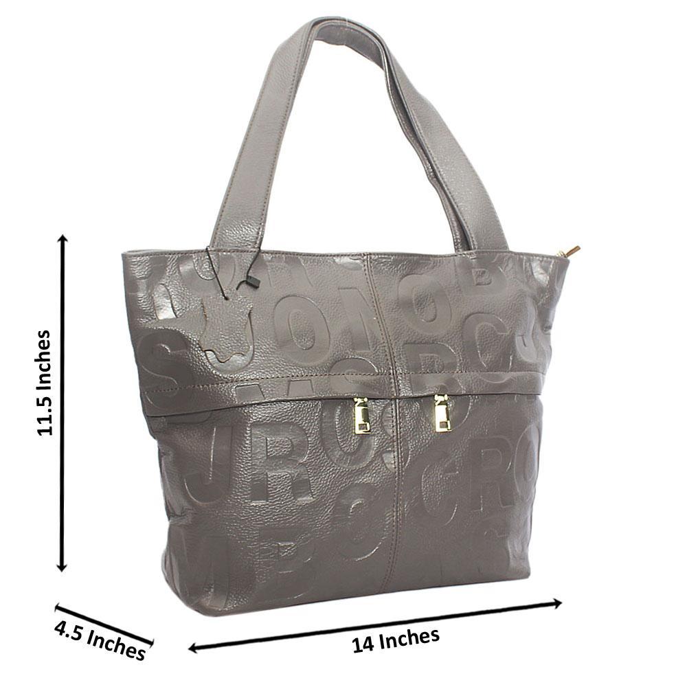 Stylish Grey Shoulder Aussie Leather Handbag