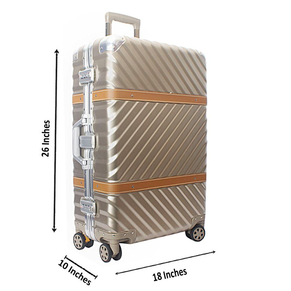 Gold 26 Inch Hardshell Medium Suitcase Wt TSA Lock