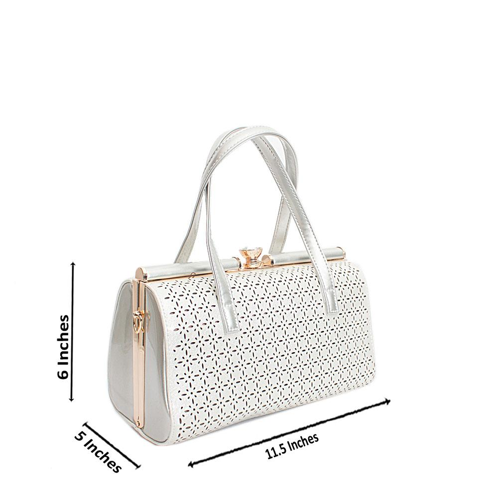 London-Style-White-Silver-Patent-Leather-Handbag