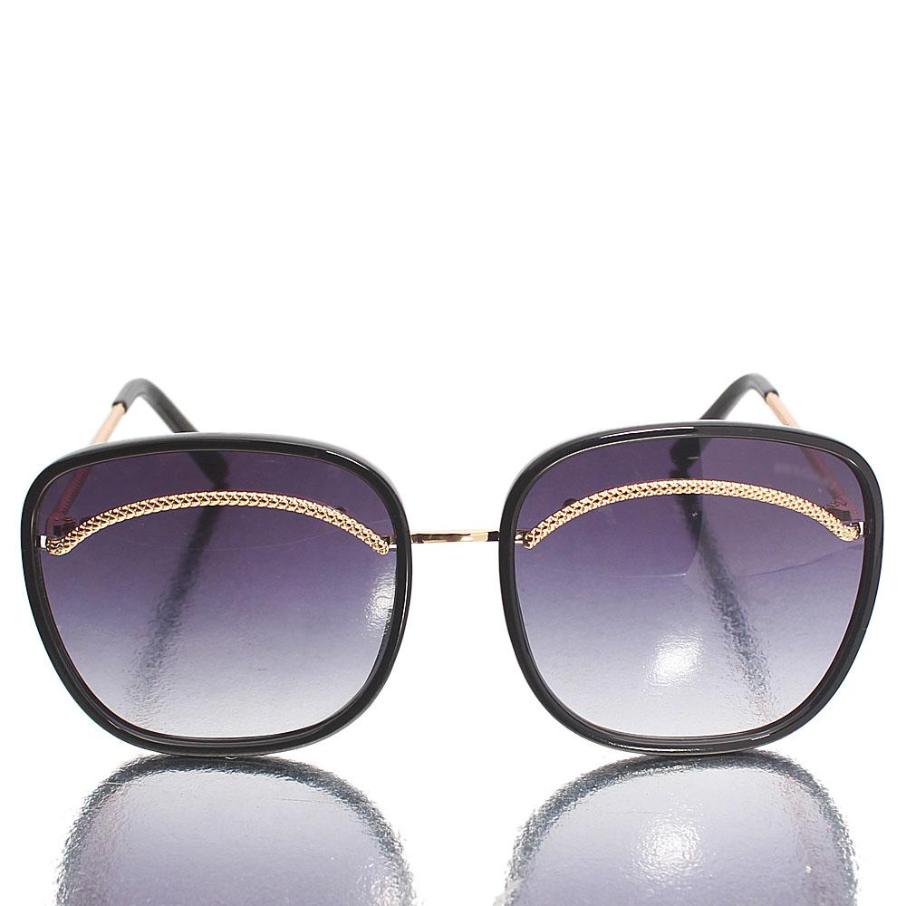 Gold Black Oversized Square Sunglasses