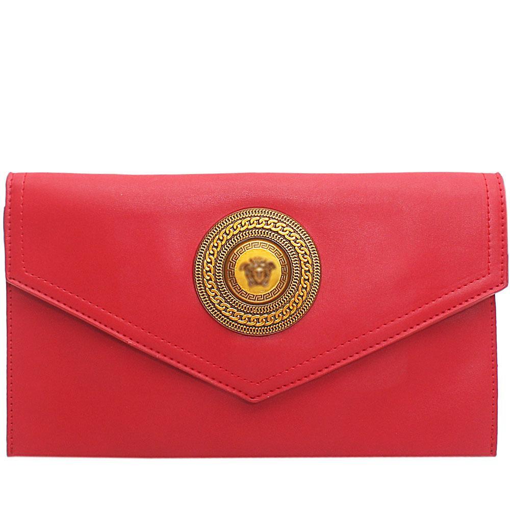 Red Adora Leather Flat Purse