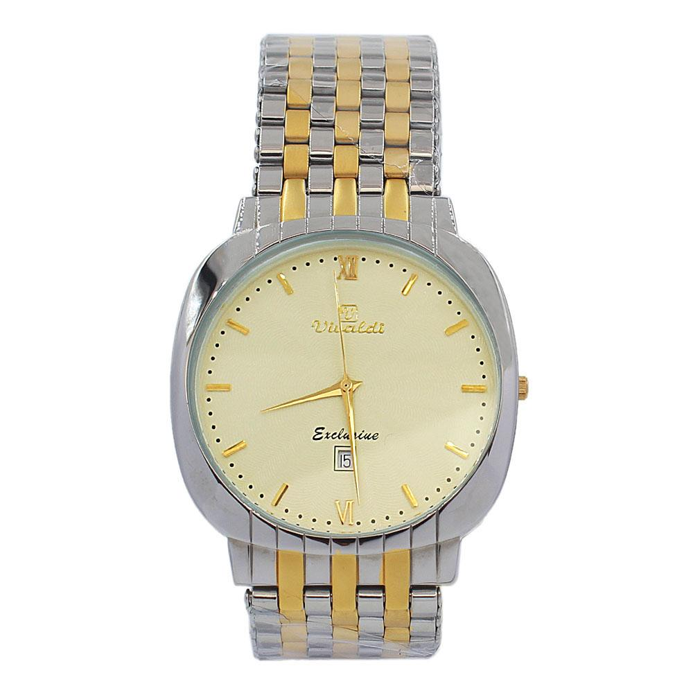 Silver Gold Troy Stainless Steel Fashion Watch