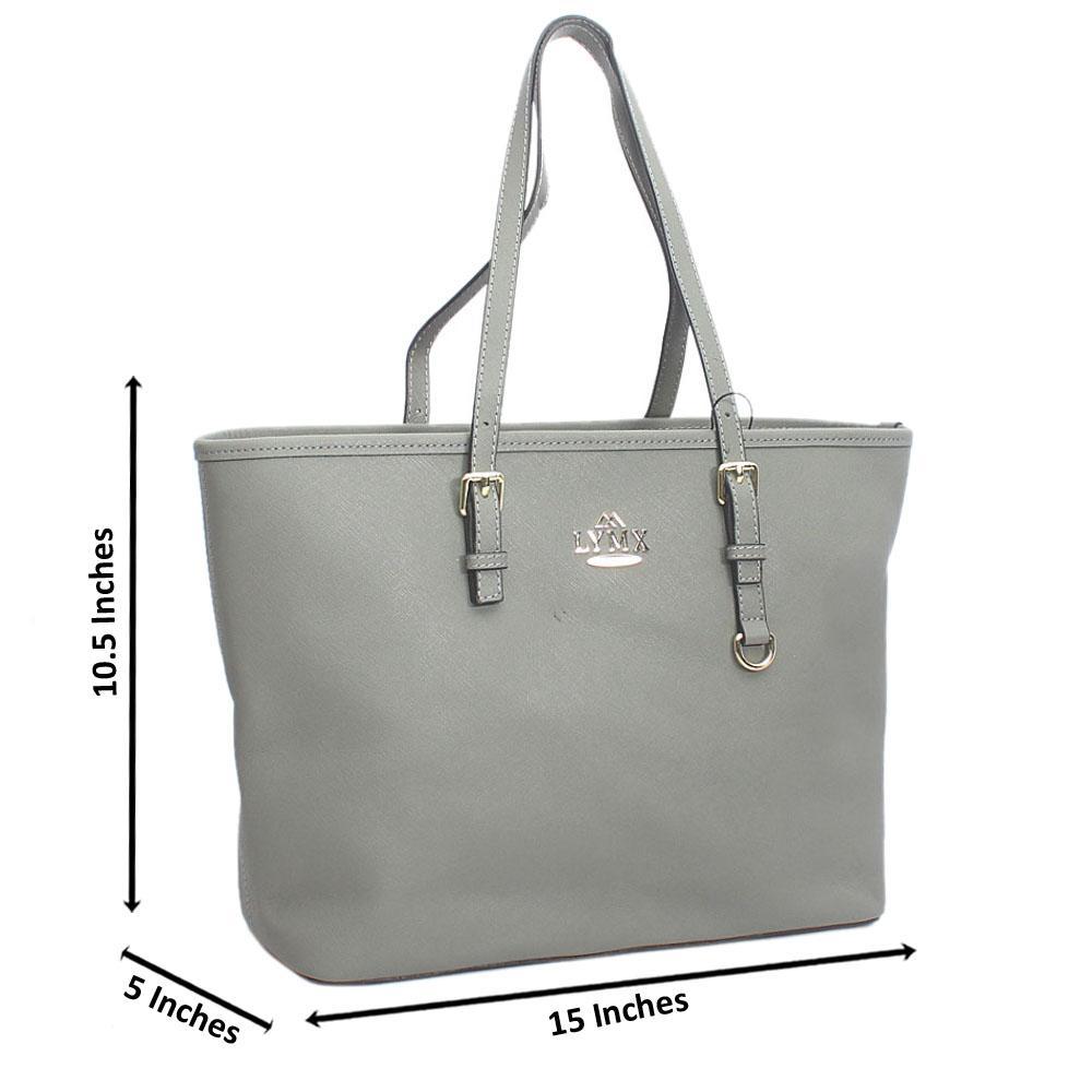 Grey Median Jet Set Item Shoulder Handbag