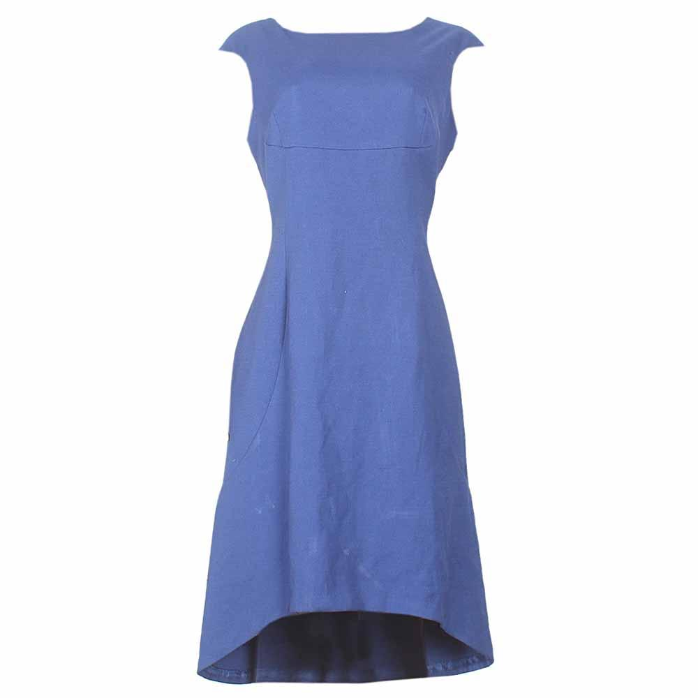 Worthington Blue Sleeveless Ladies Dress-Uk14