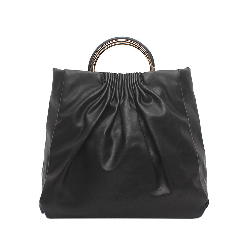 Barbados Black Leather Handbag