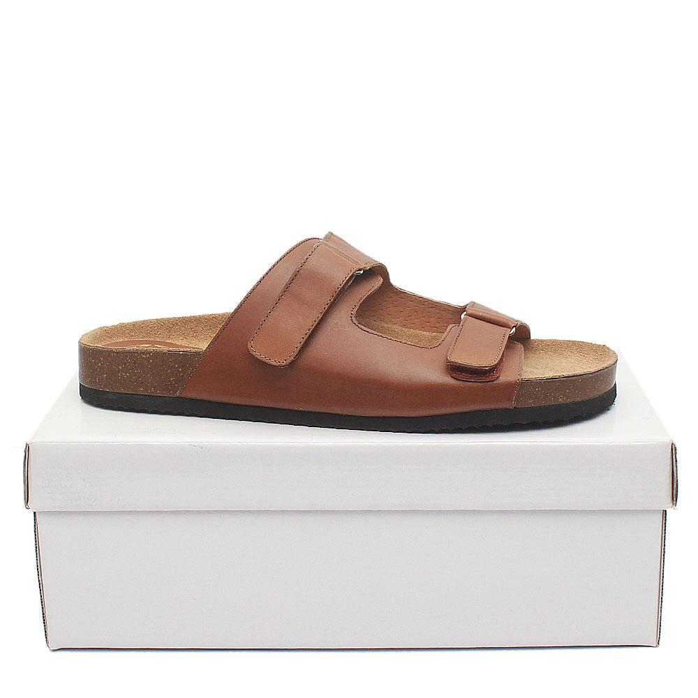 Kurt Geiger Brown Premium Leather Men Slippers
