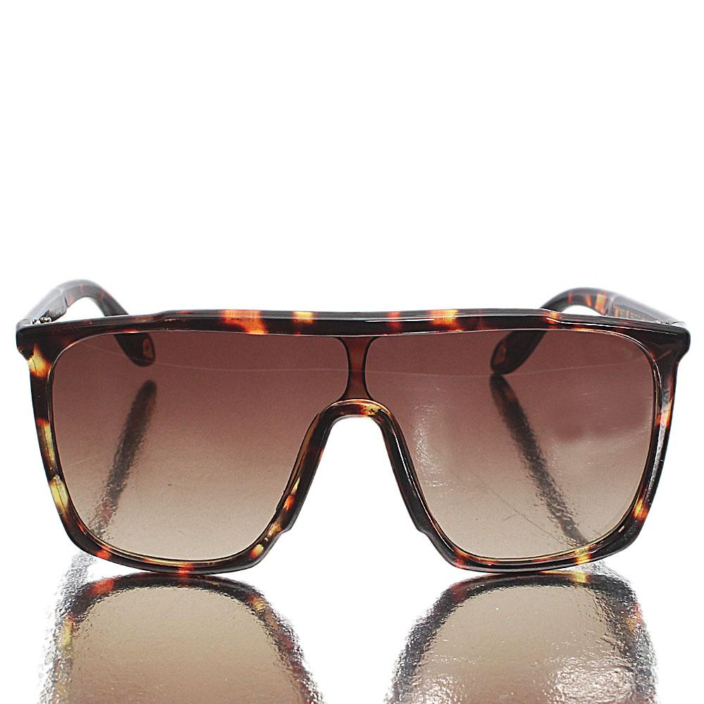 Brown Shield Lens Sunglasses