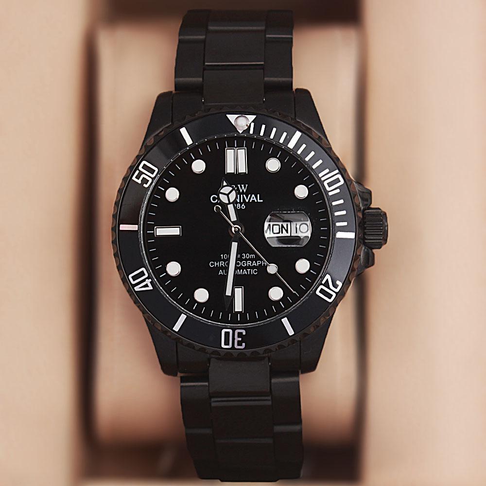 Shanghai Sport GP Black Stainless Steel Automatic Watch