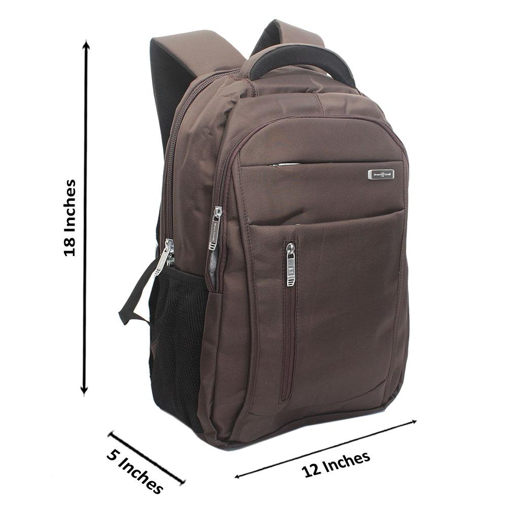 Coffee Side Zip Bruno Cavali Backpack