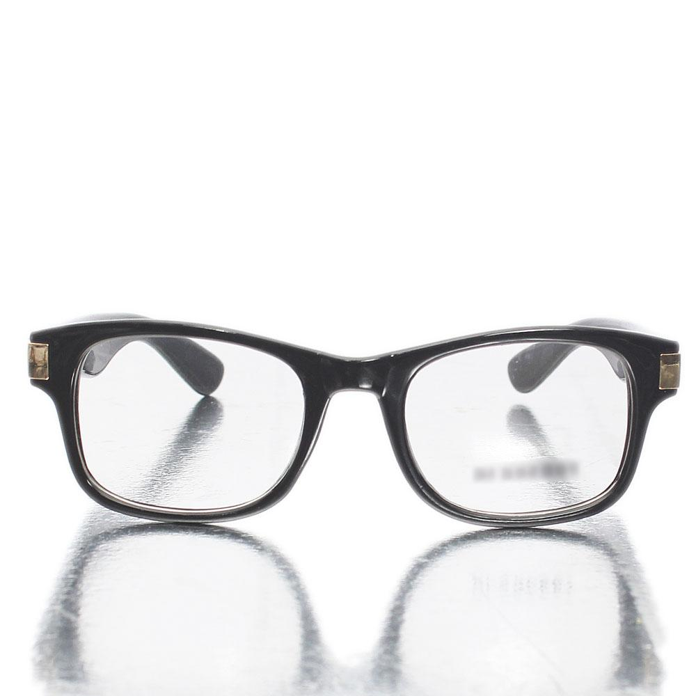 Black Wayfarer Transparent Lens Glasses