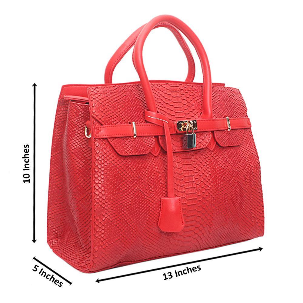 Red Leather  Matte Crocodile Birkin bag