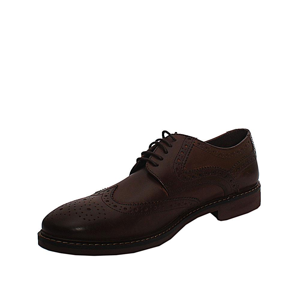 M & S Collection Coffee Brown Leather Lace up Men Shoe