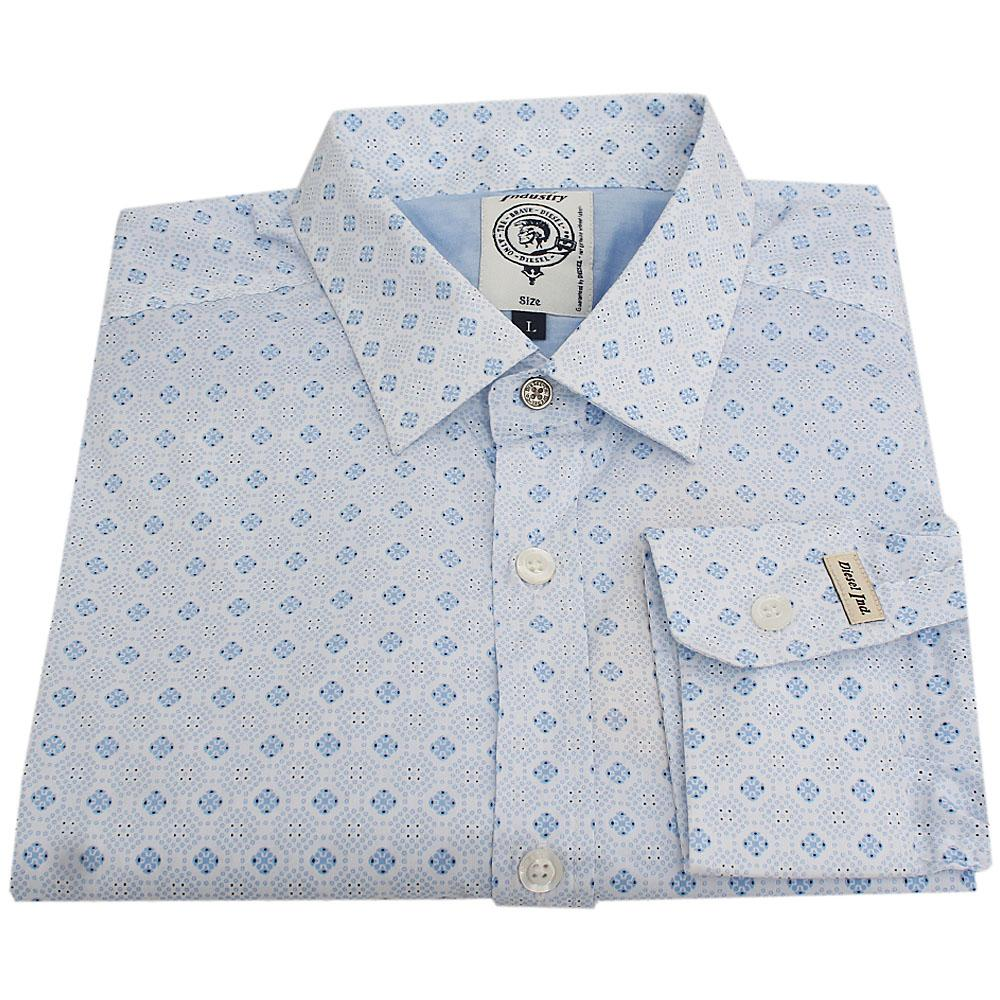 Diesel Sky Blue L/Sleeve Men Casual Shirt