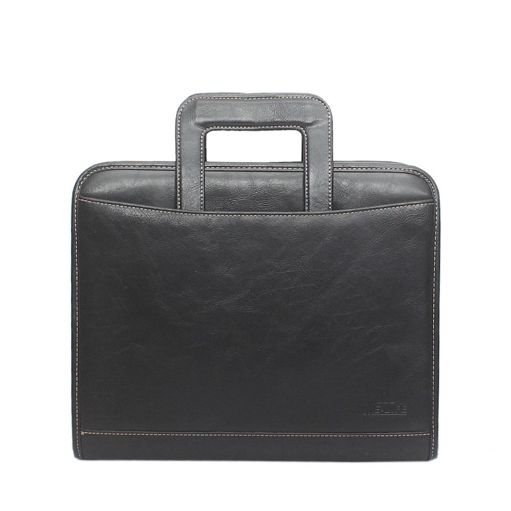 Me-Life Black Leather File Bag