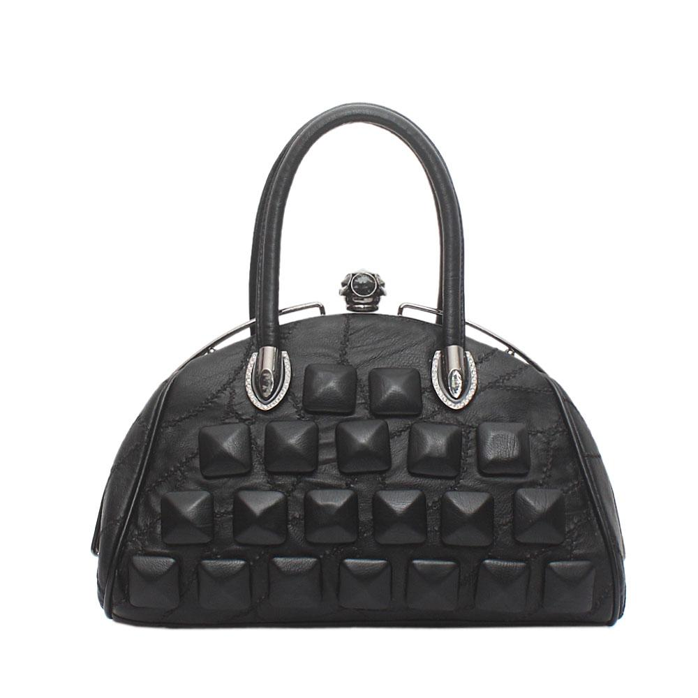 Mingo Club Black Leather Tote Bag