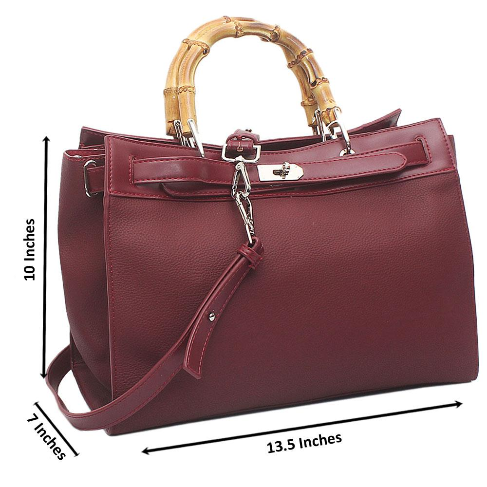 Wine Michino Montana-Leather Handbag