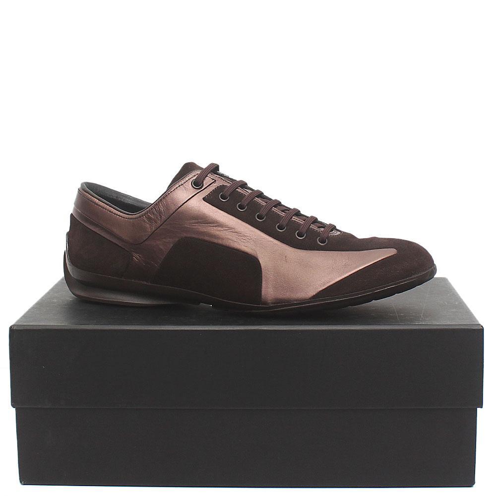 Zegna Sport Coffee Premium Suede Leather Men Sneakers