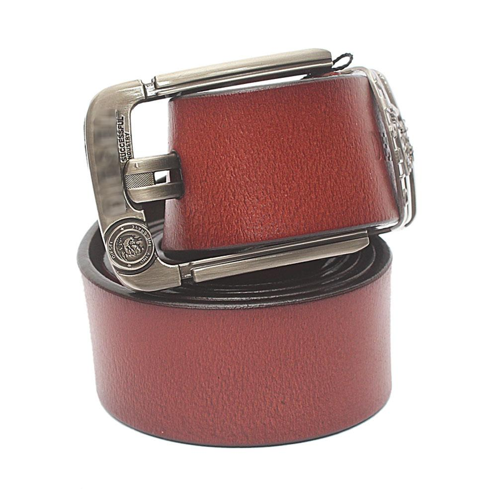 Brown Brave Exotic Leather Belt L 50 Inches
