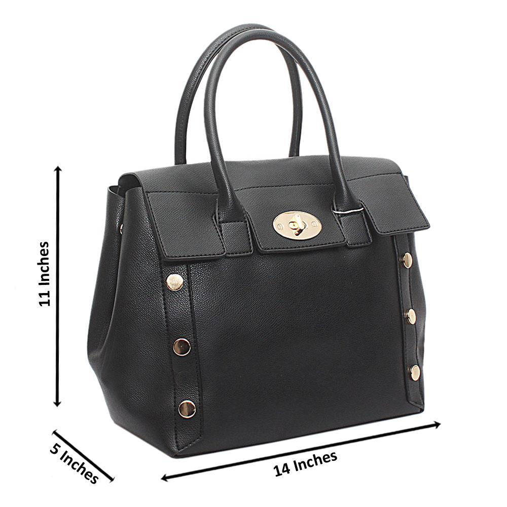Black Leather Medium Delicate Handbag