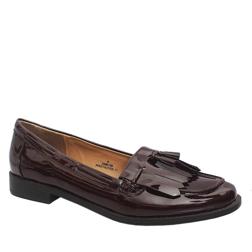 M & S Insolia Flex Wine Patent Leather Ladies Shoe