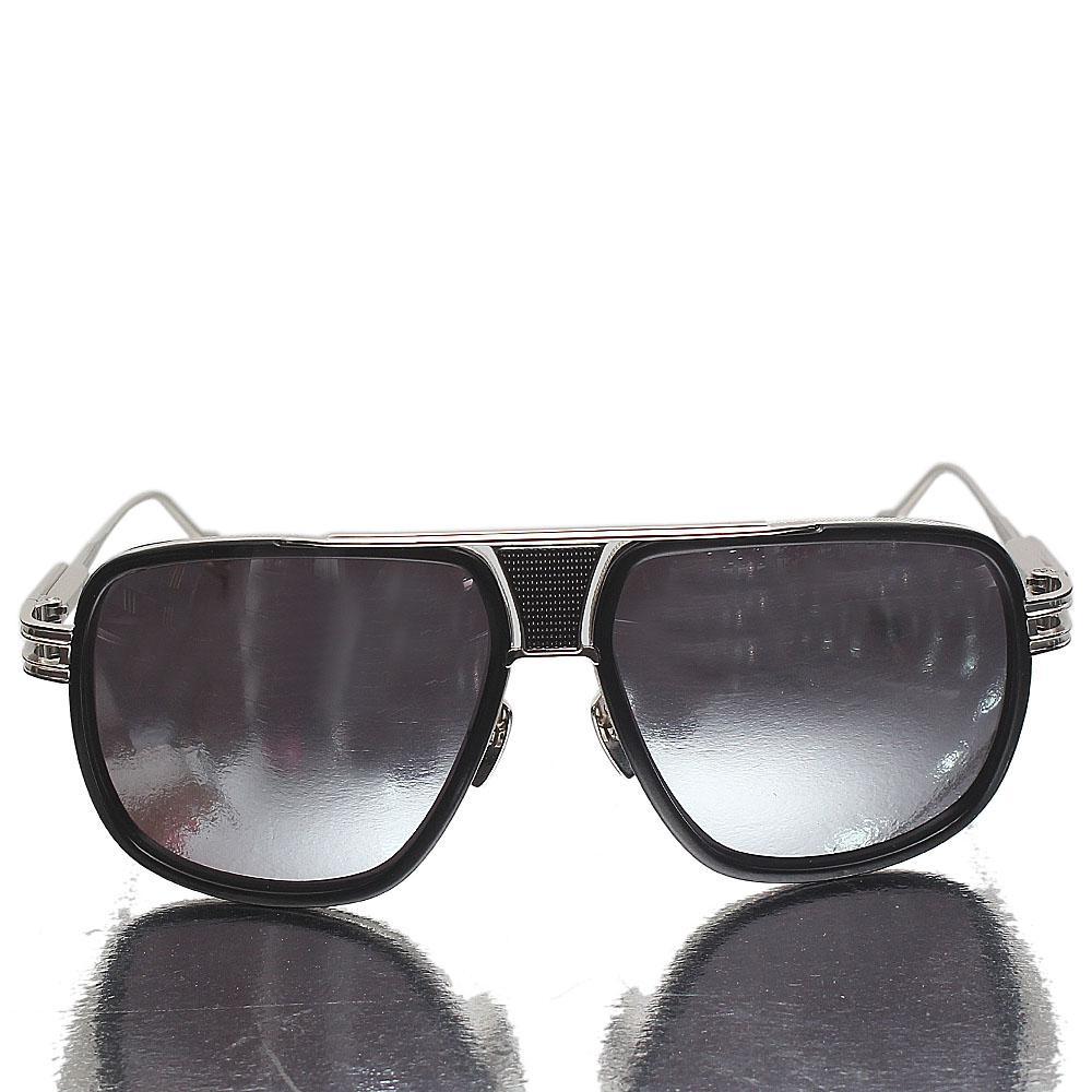 Silver Pilot Metallic Polarized Lens Sunglasses