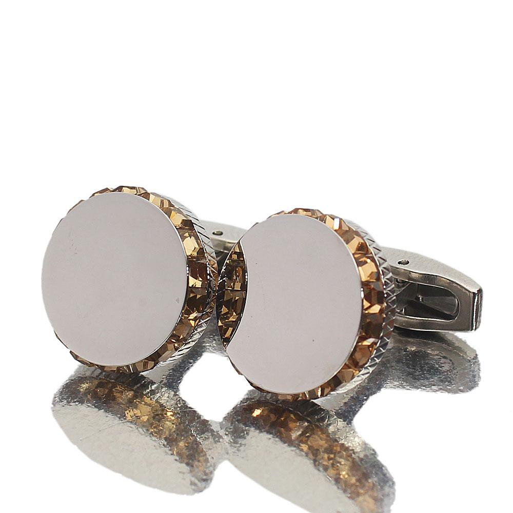 Staffordshire Silver Gold Ice Stainless Steel Cufflinks